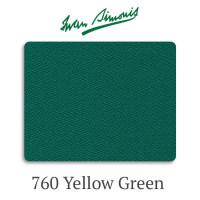 Сукно бильярдное Iwan Simonis 760 Yellow Green 355 г/м2 70% шерсть 30% нейлон