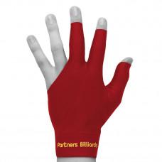 Перчатка для бильярда PartnersBilliards красная безразмерная