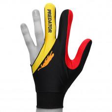 Перчатка для бильярда PredatorsHunter Velcro Multicolor черная/желтая/красная безразмерная
