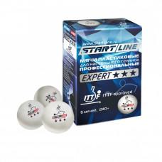 Мячи для настольного тенниса Start Line Expert 3*