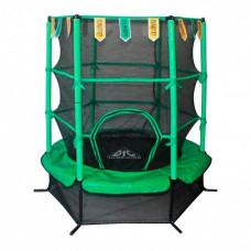 Батут DFC Jump Kids 55DM ссеткой 137см 55 дюймов зеленый