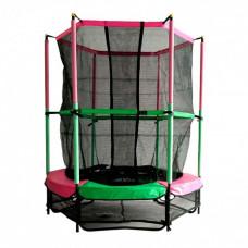 Батут DFC Jump Kids 55DM ссеткой 137см 55 дюймов зеленый/розовый