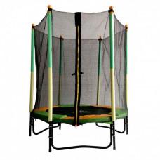 Батут DFC Jump Kids 55DM ссеткой 137см 55 дюймов зеленый/желтый