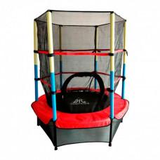 Батут DFC Jump Kids 55DM ссеткой 137см 55 дюймов красный/желтый/синий